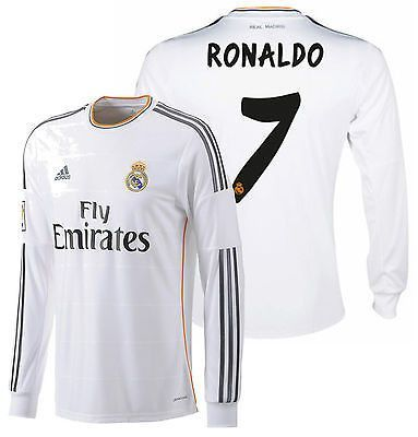 9c6611335 ADIDAS CRISTIANO RONALDO REAL MADRID LONG SLEEVE HOME JERSEY 2013 14 ...