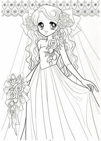 Manga Coloring Pages - Best 11k Wallpapers | Раскраски | Pinterest ...