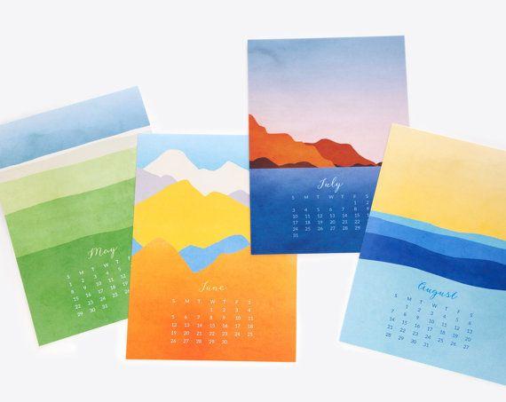 2016 calendar desk calendar fine art calendar landscape by evesand