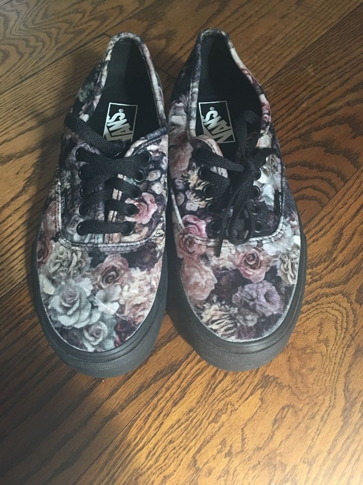 6c53d30fee9 New WOMENS VANS VELVET FLORAL Low Tops  fashion  clothing  shoes   accessories
