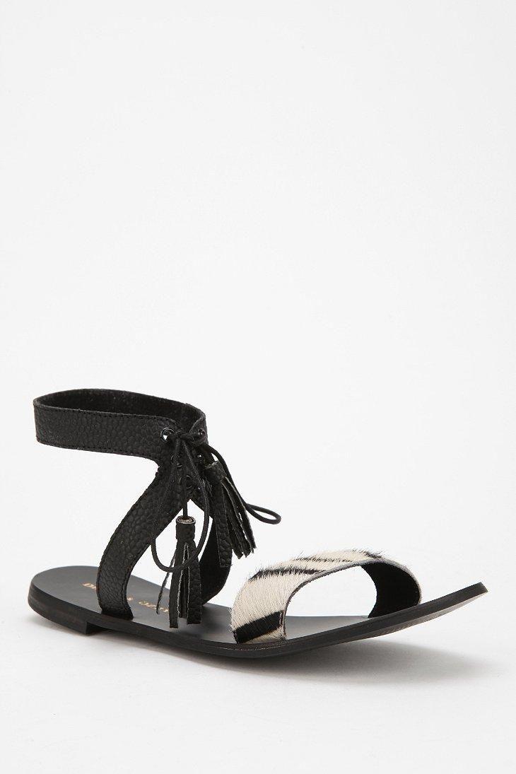 Deena & Ozzy Tasseled Lace-Up Sandal