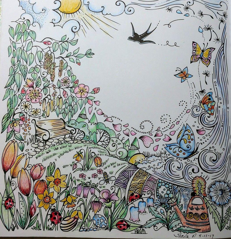 Spring By Rita Berman German Coloring Book Colored By Me On 4 11 17 Inkt