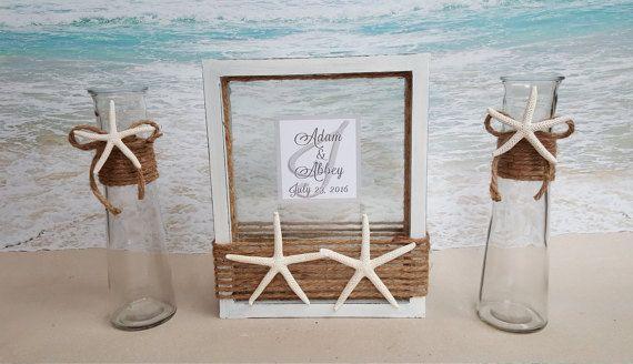 Starfish Sand Unity Frame Ceremony Set Includes by ParadiseBridal ...