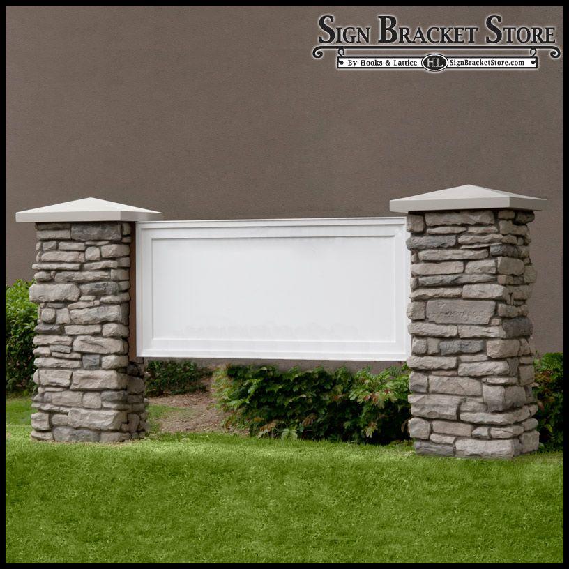 Mainstay Model Monument Sign Faux Stone Faux Concrete