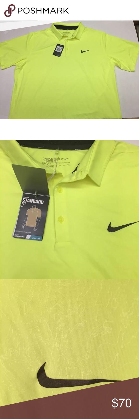 Nike Golf Dri-Fit Polo Shirt Mens XXL Volt Yellow   Polo shirt ...