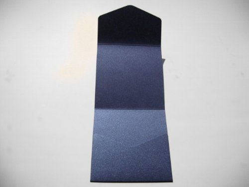 5 x Large Square 150x150mm Pocketfold Wedding Invites Pearlised Navy by Cranberry Card Company: Amazon.co.uk: Office Products