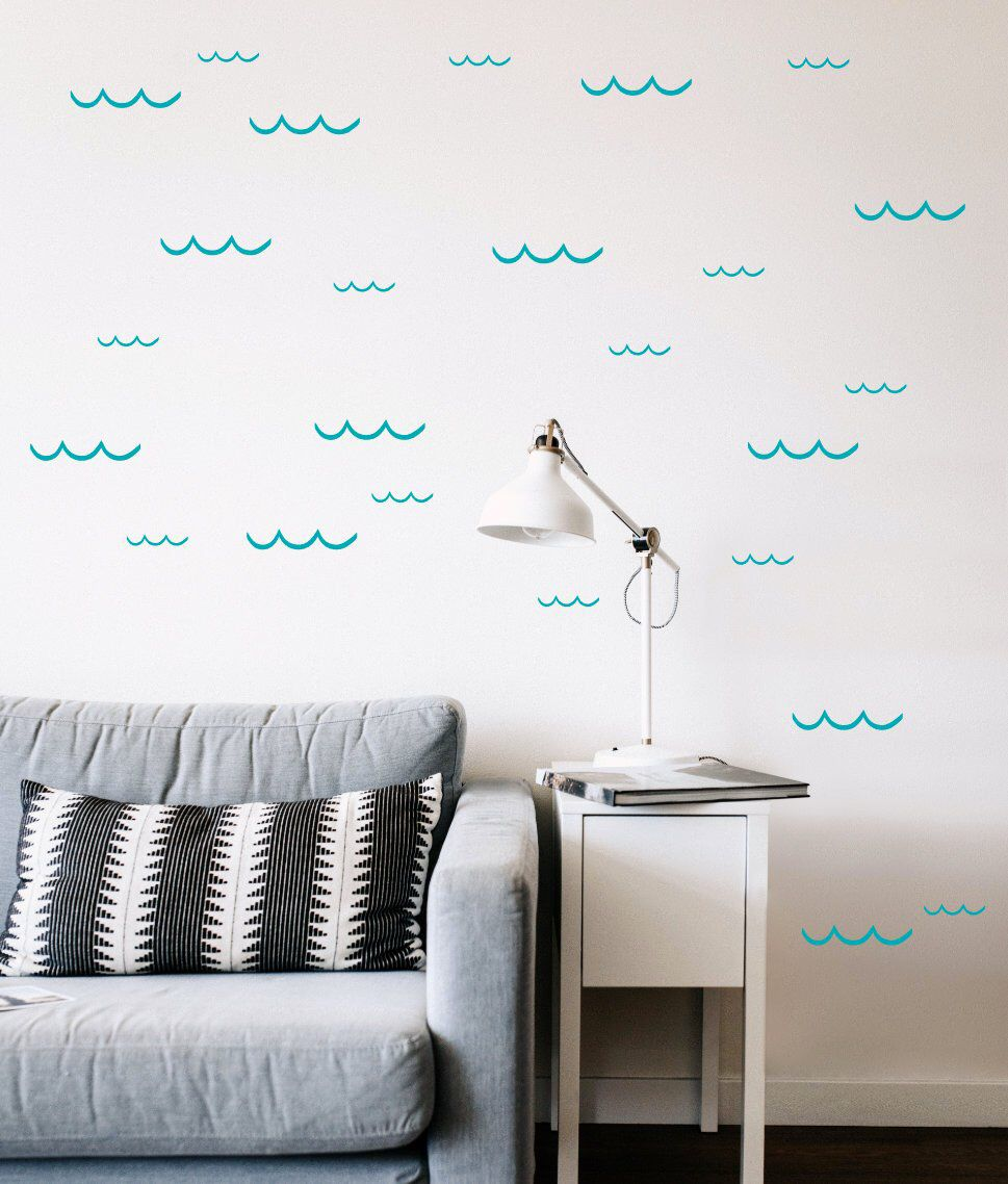 Wave Decals 3 removable wall decals in 2020 Removable