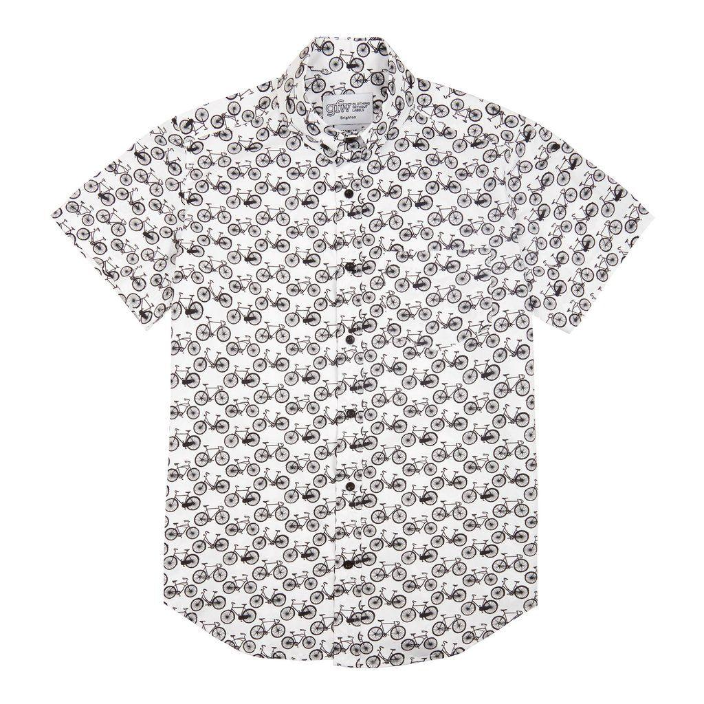 7900474ae85c8 Bike Print Short Sleeve Shirt