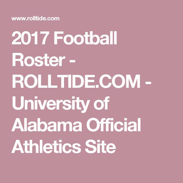 2018 Football Roster Rolltide Com University Of Alabama