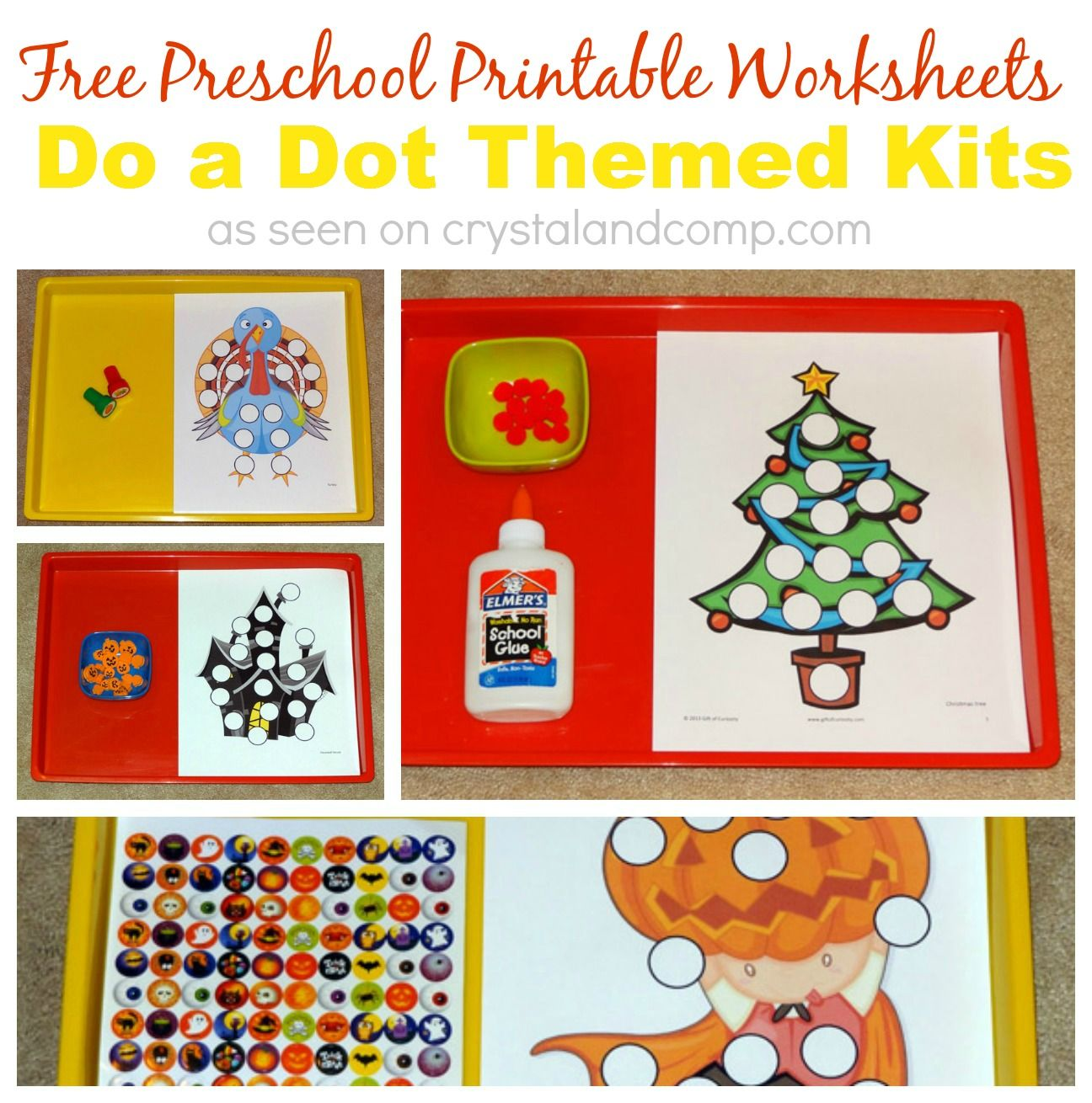 Free Preschool Printable Worksheets Do A Dot Themed Kits