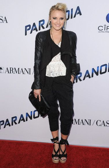 Emily Osment arriving at the premiere of Paranoia in Los Angeles, California - Aug 8, 2013 - Photo: Runway Manhattan/Bau