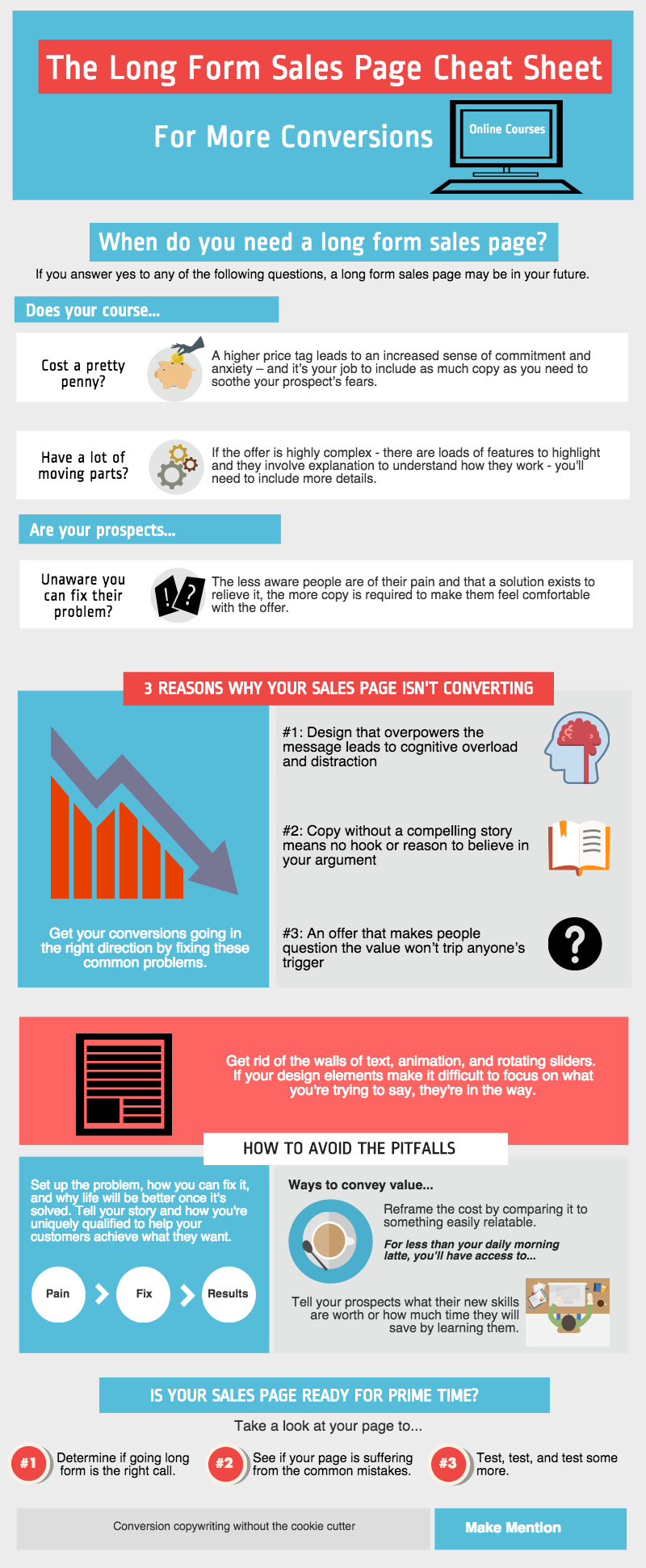 long form sales page cheat sheet for more conversions this cheat