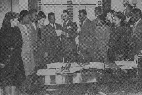 Members of the Southern Negro Youth Congress Meet With Idaho Senator Glen Taylor, 1947