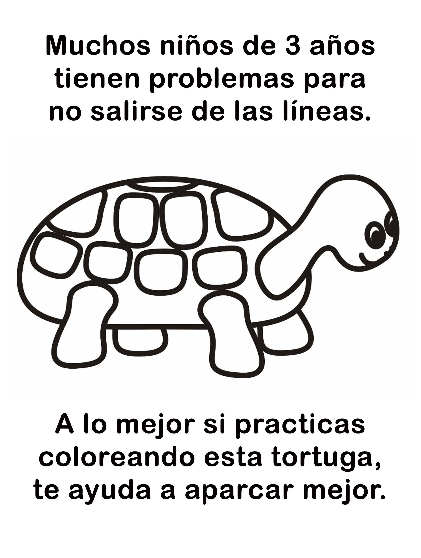 tortuga-colorear-aparcar-mal (2)   chuladas   Pinterest   Tortuga ...
