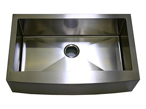 Auric Sinks 27 Farmhouse Curved Front Apron Single Bowl Sink 18 Gauge  Stainless Steel ** More Info Could Be Found At The Image Url.