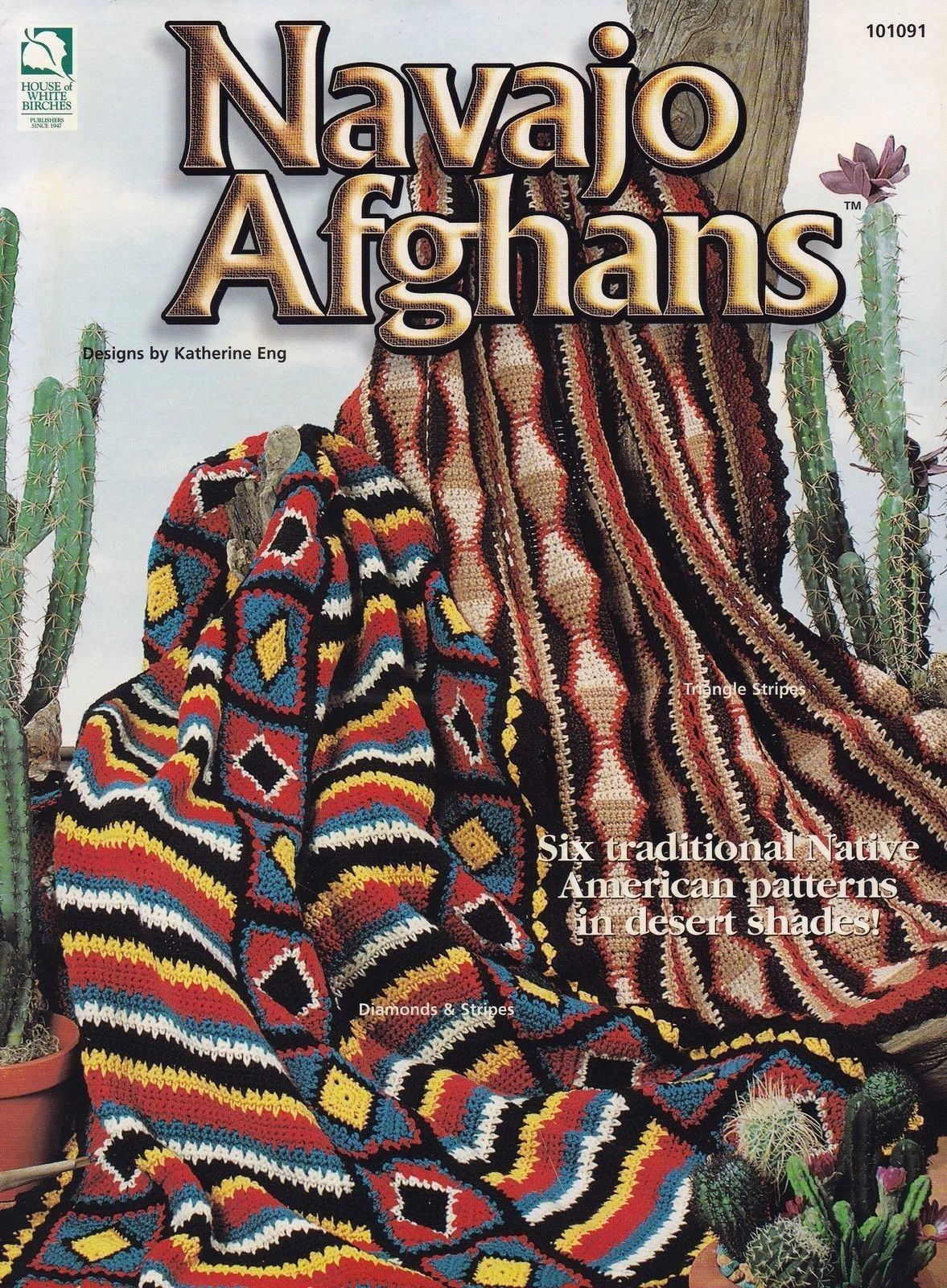 Navajo Afghans, House of White Birches Crochet Pattern 101091 Native ...
