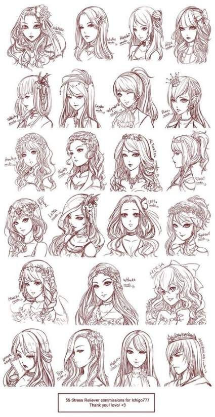 Photo of Trendy drawing anime hairstyles girls Ideas