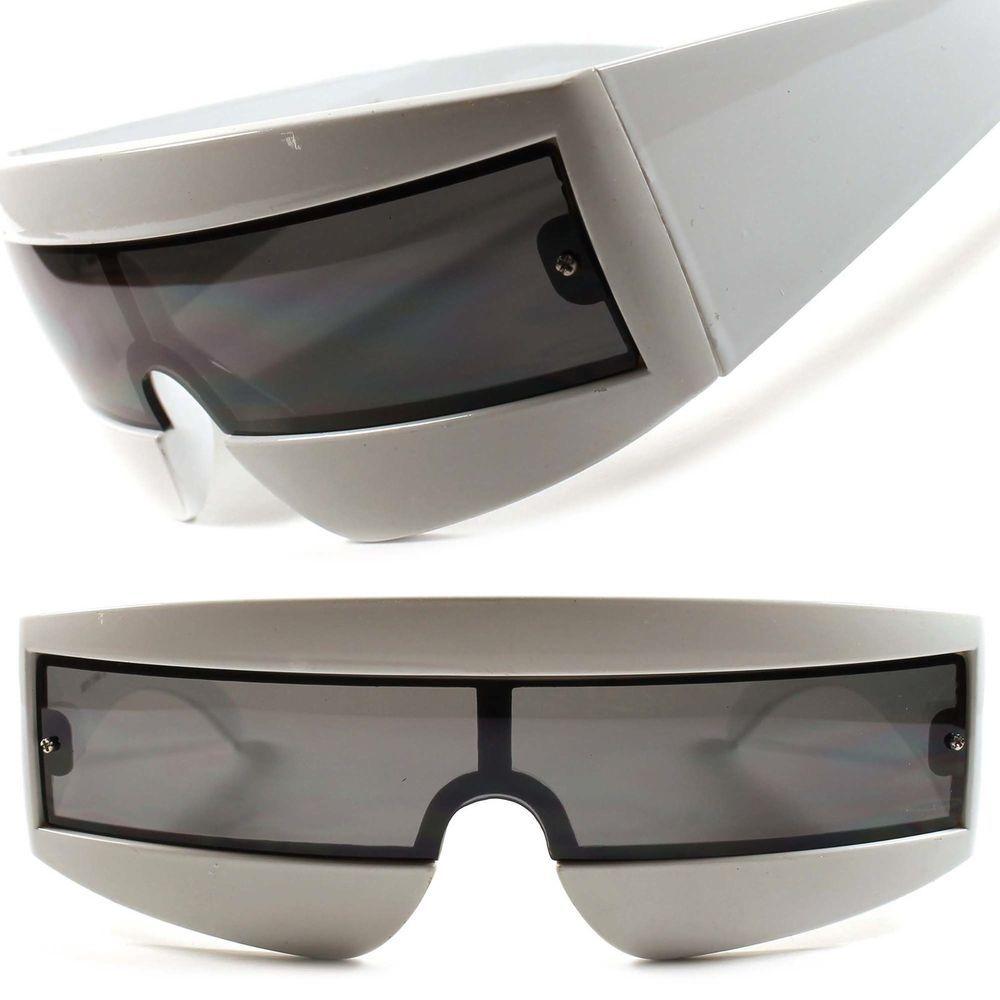 Superhero Robotic Sci-Fi Party Rave Costume Cyclops Futuristic Red Sunglasses C2