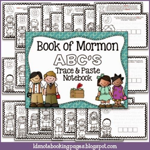 LDS Notebooking: Book of Mormon ABC\'s Trace and Paste Notebook ...
