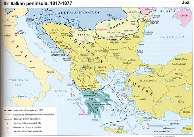 BALKANS [1817 - 1877] Balkan Peninsula From 1817-1877 | MAPS ...