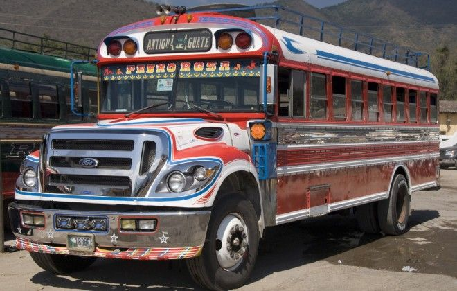Experience a unique way of traveling by hopping on a 'chicken bus' in Guatemala. #Travel #Guatemala