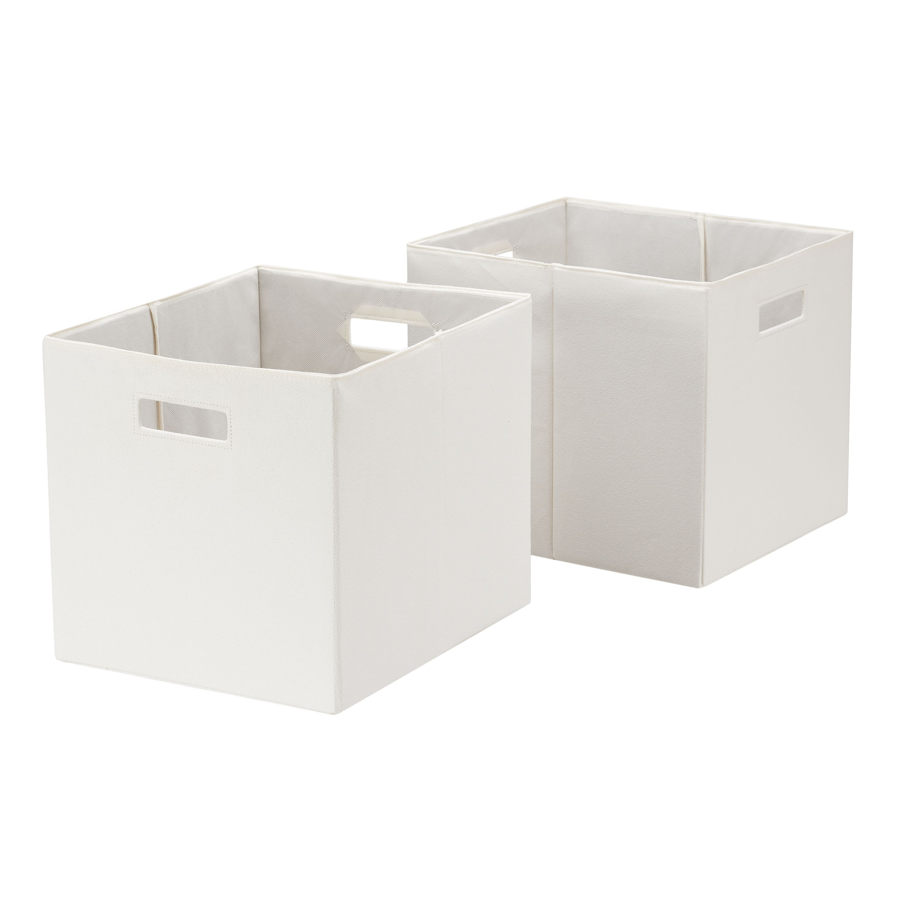 Better Homes Gardens Fabric Cube Storage Bins 12 75 X 12 75 Set Of 2 Vanilla Dream Walmart Com In 2020 Cube Storage Bins Storage Bins Cube Storage