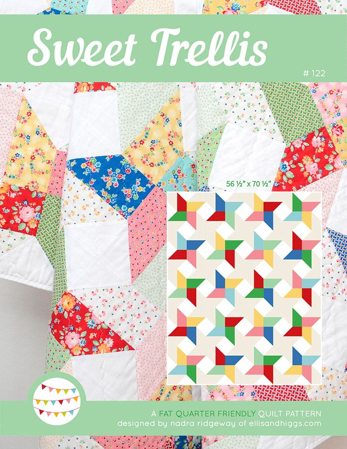 New Quilt Patterns - Neue Quilt-Schnittmuster | Trellis pattern ...