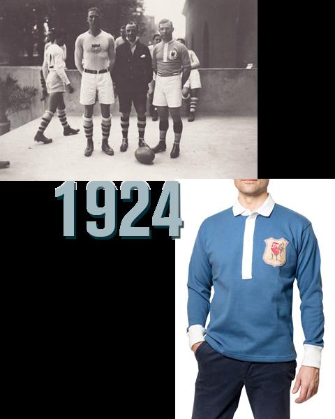 Maillots vintage Maillot Le France 1924 de rugby pour