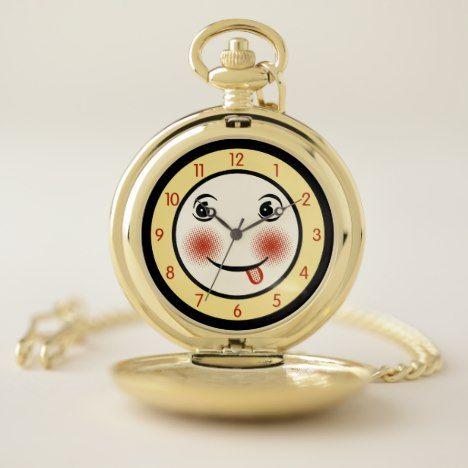 Retro goofy clock face pocket watch clock faces retro goofy clock face pocket watch aloadofball Choice Image