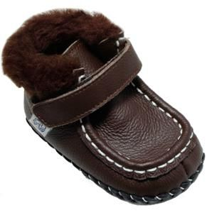 """Pedipeds for Boys - """"Andrew"""" Chocolate Brown Leather Baby Boots FREE SHIPPING"""