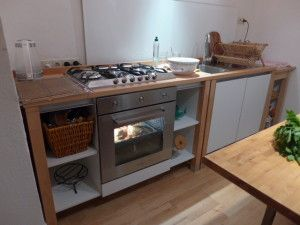 bloc kitchen | beech wood - foiled white singleküche single ... | {Singleküche 35}