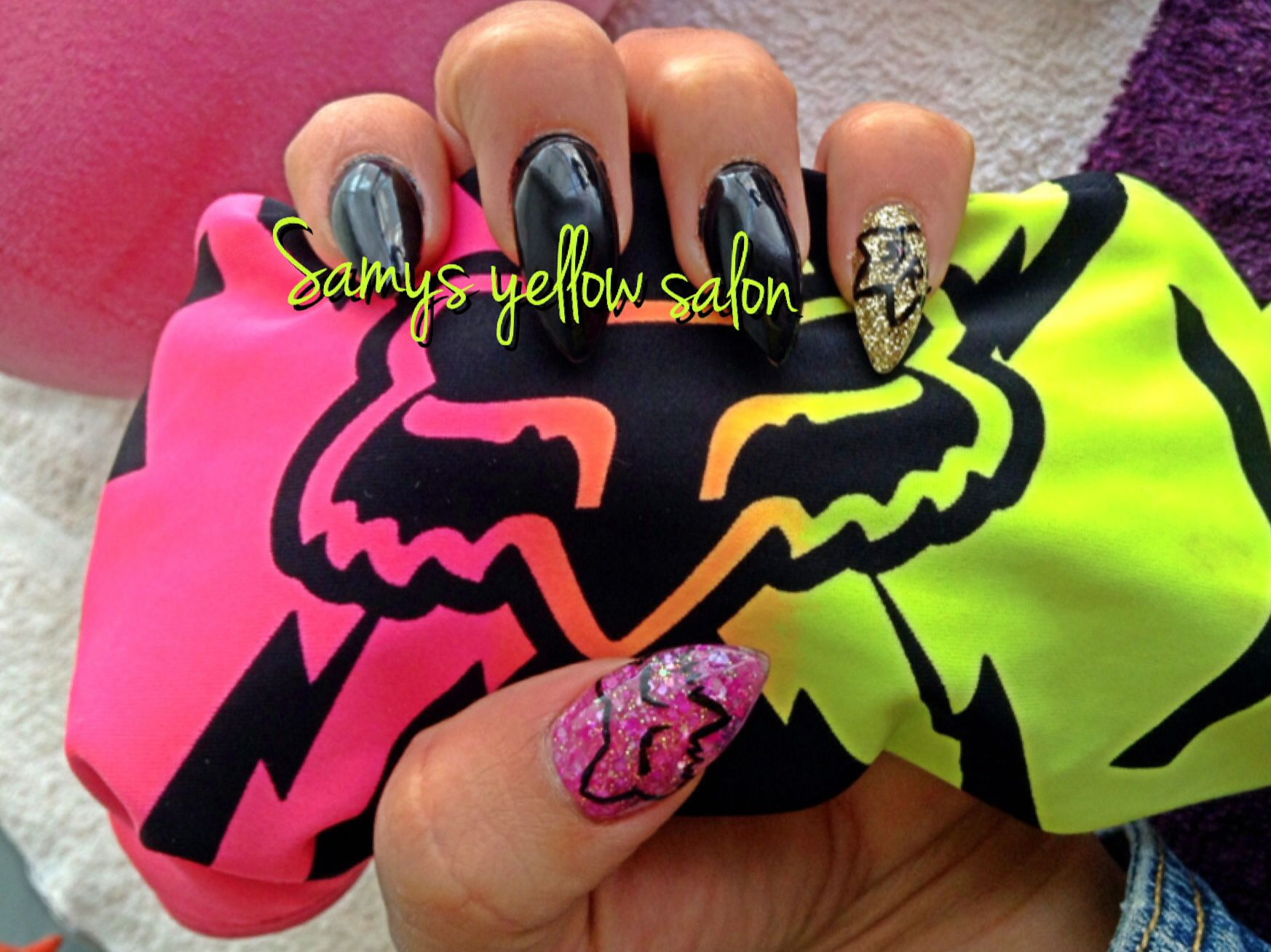 Fox racing nails ,rockstar , motocross ,nail art design by samys ...