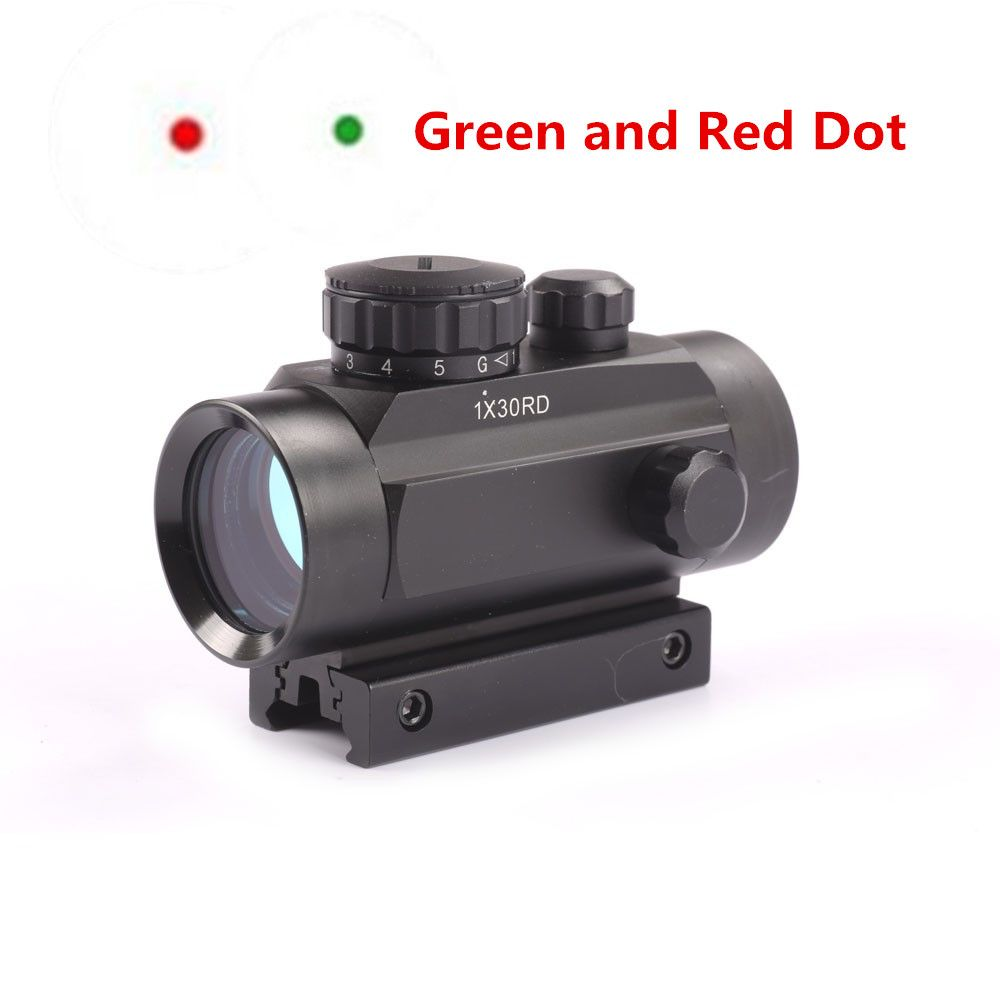Hunting 1X30 Red Green Dot Sight Optics Tactical Scope Holographic Riflescope