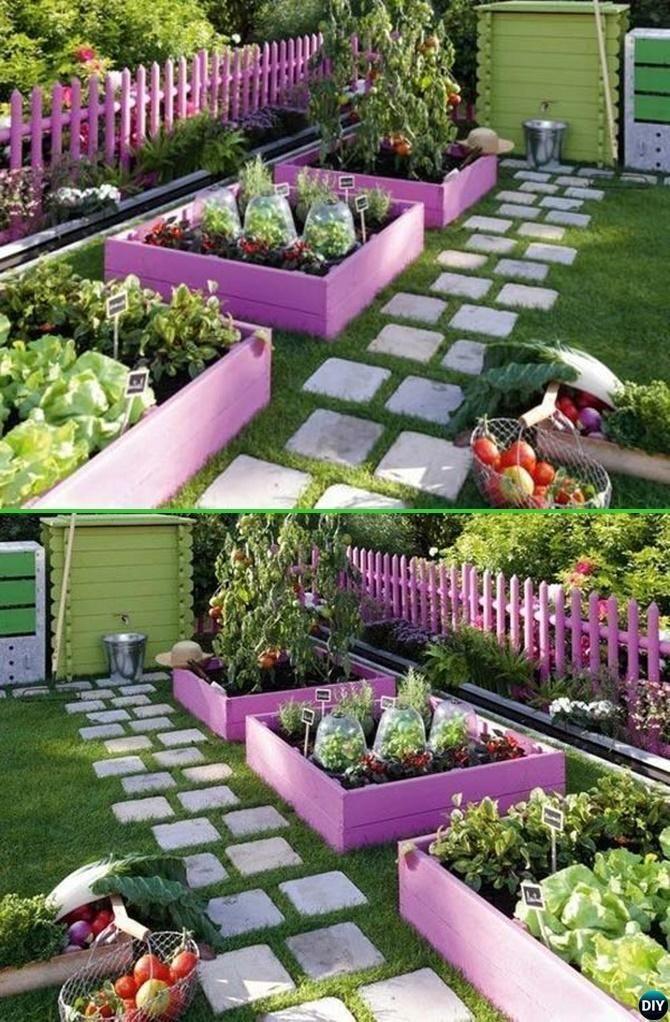 Paint Pallet Garden Edging - 20 Creative Garden Bed Edging Ideas ...