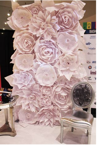 Paper Mache Flower Wall From Luxe Rentals Nyc Art Ideas For Home