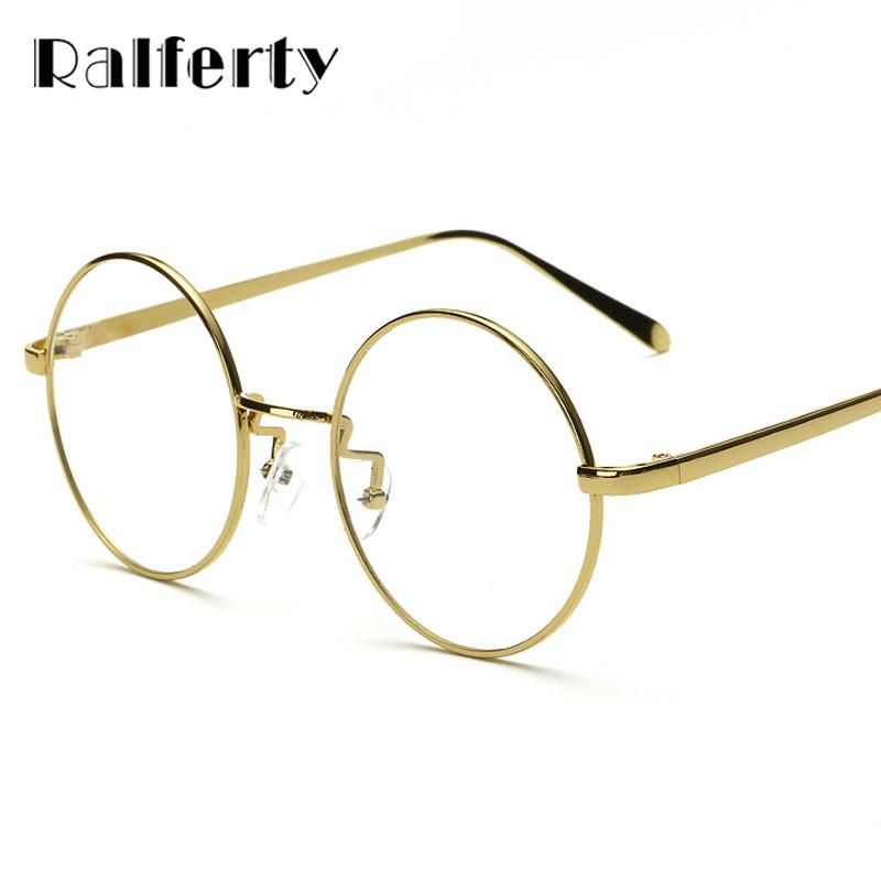 9578f09c9c71 FuzWeb Ralferty Oversized Korean Round Glasses Frame With Clear Lens ...