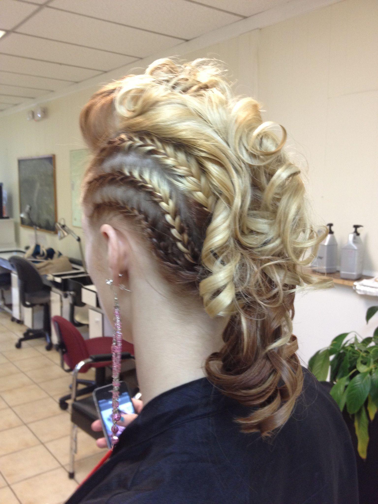 braided mohawk work hair