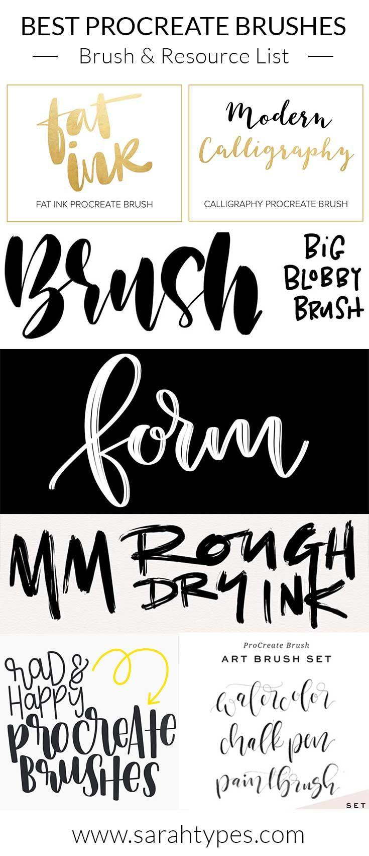 Using Procreate On Ipad Pro To Create Brush Lettering Hand