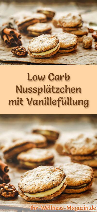 Weihnachtskekse Diabetiker.Low Carb Nussplätzchen Mit Vanillefüllung Einfaches Rezept Für