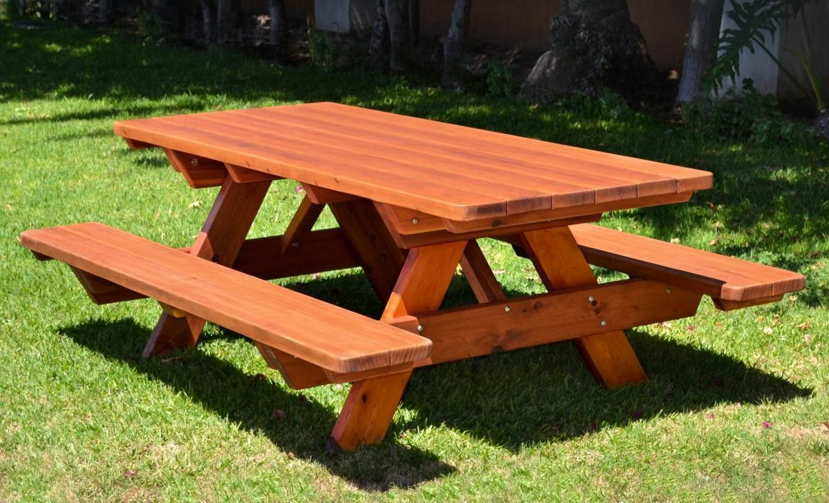 Wood Picnic Table In 2020 Wooden Picnic Tables Picnic Table Picnic Table Plans