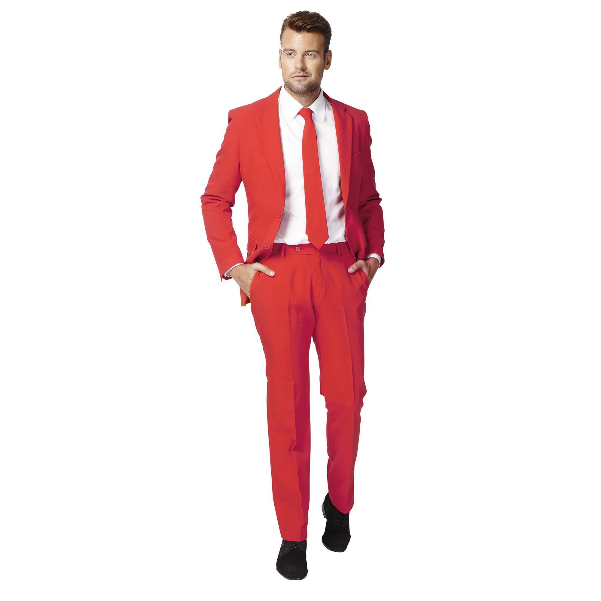 9185d30ba78b Men's OppoSuits Slim-Fit Red Novelty Suit & Tie Set, Size: 50 - regular,  Med Red