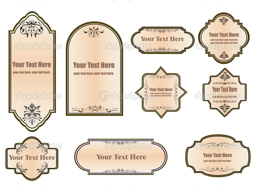 Vintagelabeltemplate set vintage labels for your design stock vintagelabeltemplate set vintage labels for your design stock vector efim lukichev maxwellsz