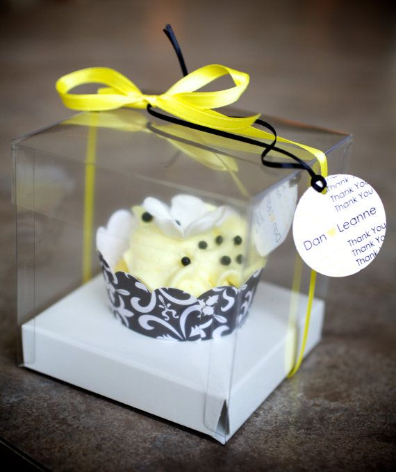 25 square cube Bomboniere favor clear PVC box wedding christening gift 5x5x5cm