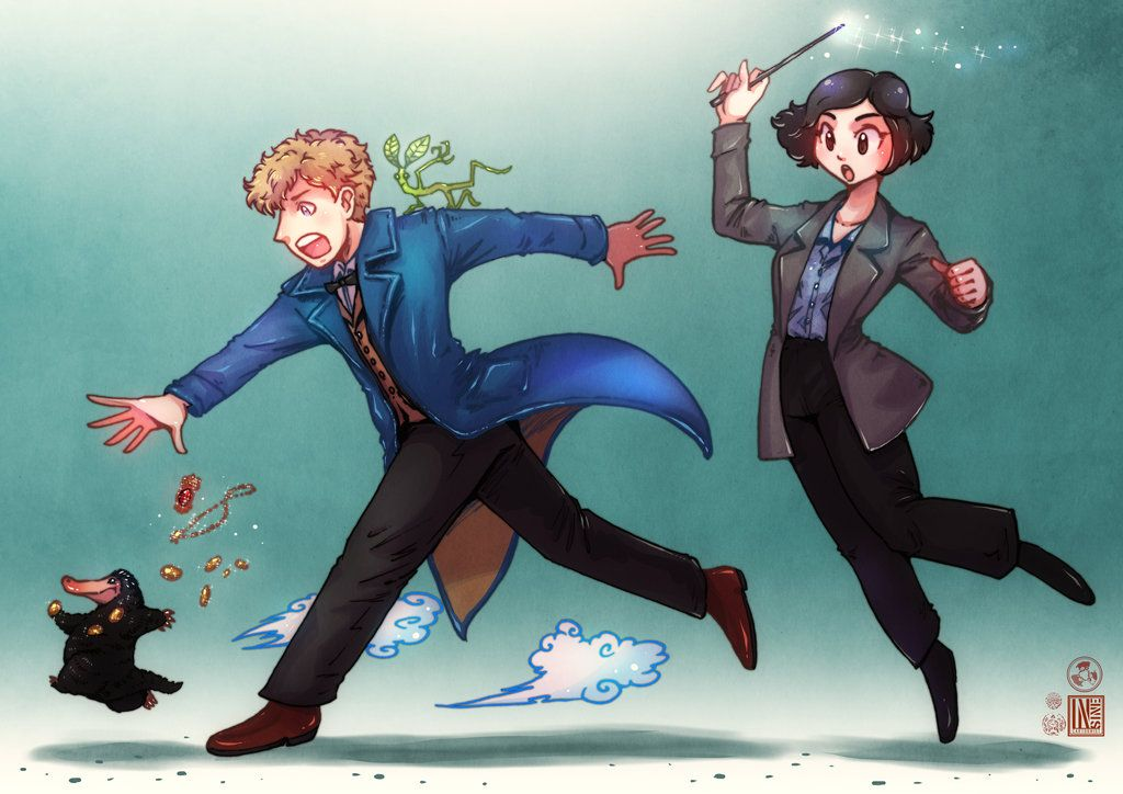 Newt And Tina From Fantastic Beasts By Zinst On Deviantart Newt