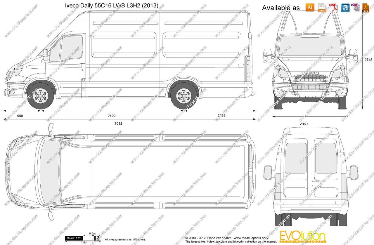 ford iveco van dimensions 4 floor plans vans diagram vehicles ford [ 1280 x 839 Pixel ]
