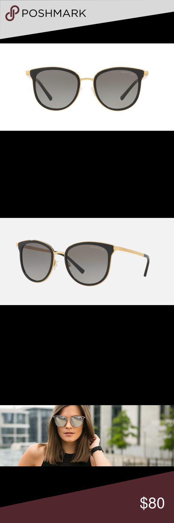Michael Kors Adrianna sunglasses Black and gold sunglasses with case! Michael Kors Accessories Sunglasses