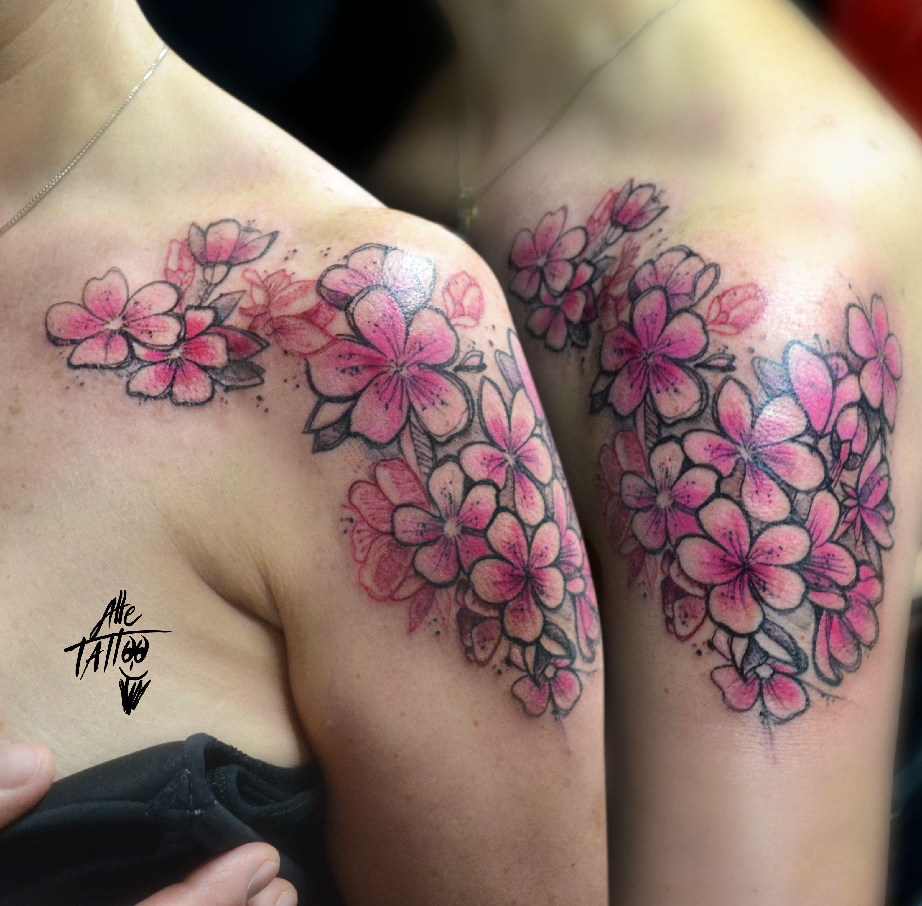 #alletattoo #cherryblossom #sketch #watercolor #fioridiciliegio #japanese #flowers #fiori