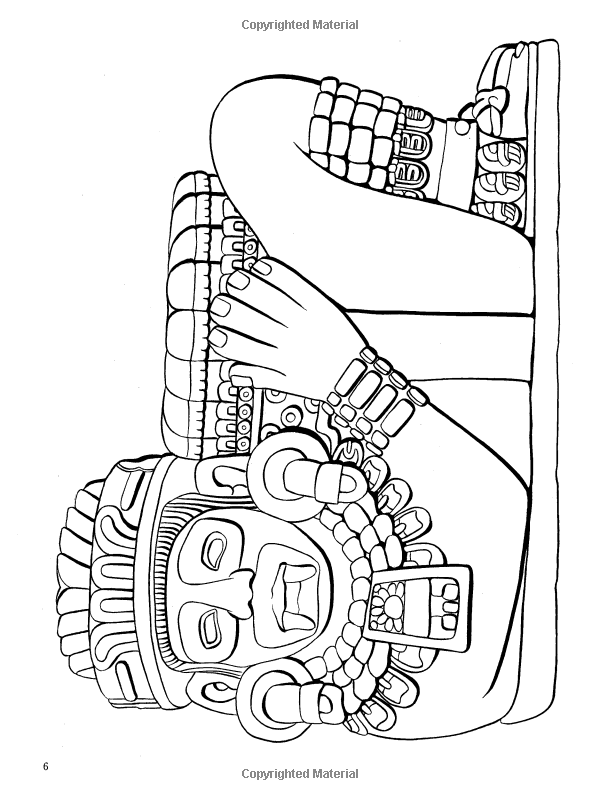 Aztec Designs Coloring Book Dover Design Coloring Books Coloring