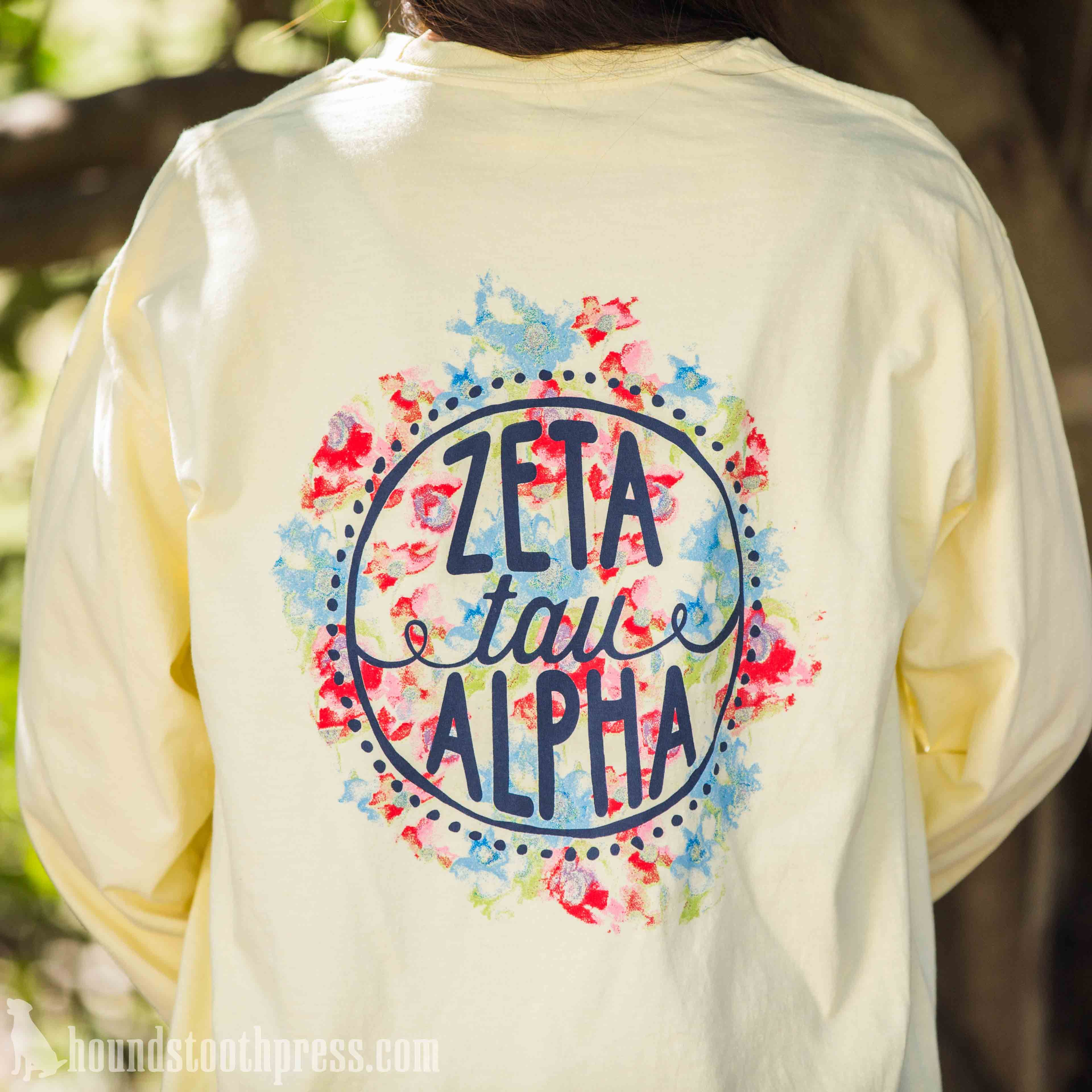 zeta tau alpha watercolor t shirt loyalty to the royalty