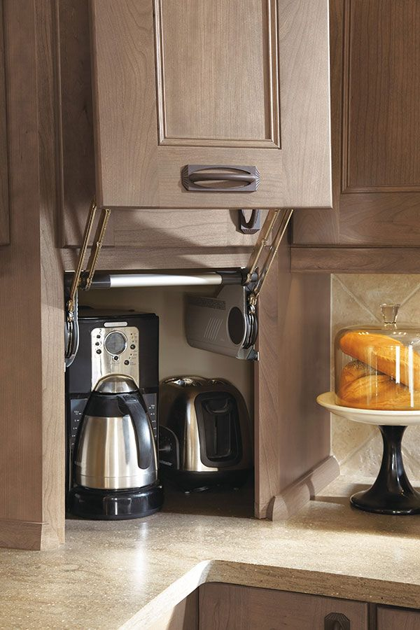This Appliance Garage allows appliances to stay within ...